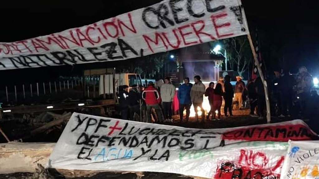 En fotos: mapuches bloquean el acceso a importantes áreas de Vaca Muerta