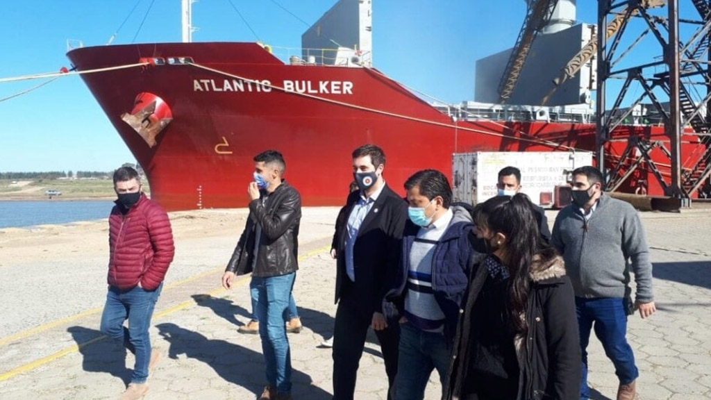 Juan Cruz Lucero destacó la operatividad del puerto de San Pedro