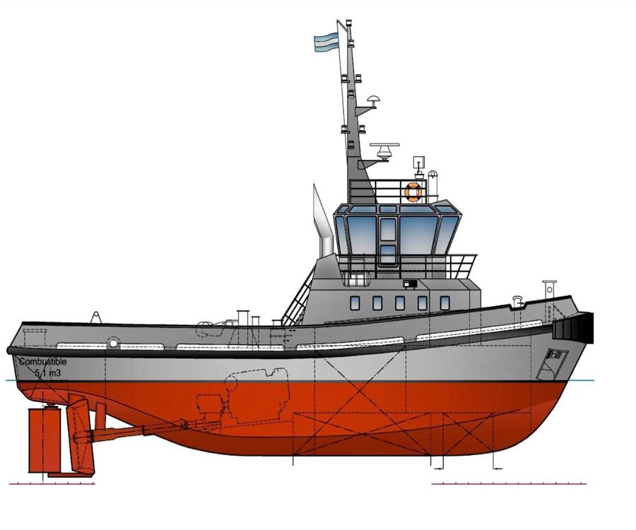 Así serán los 12 remolcadores que Tandanor construirá para la Armada