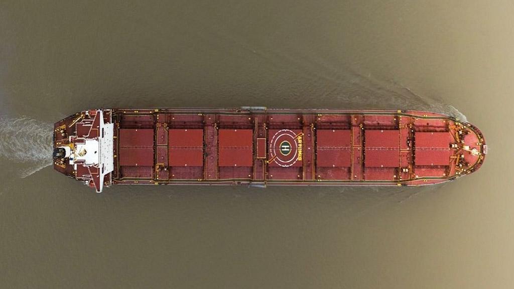 En promedio, los buques salen del Gran Rosario con 12 mil toneladas menos