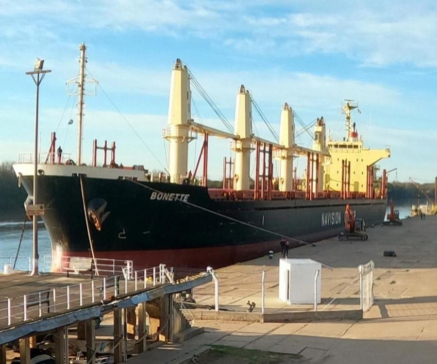 Nueva exportación a la India desde los puertos de Concepción del Uruguay e Ibicuy