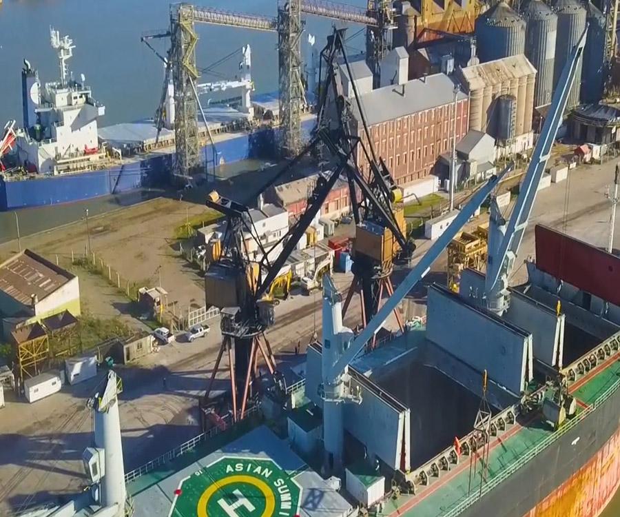 Significativo aumento de cargas, con cifras históricas, en el puerto de Bahía Blanca