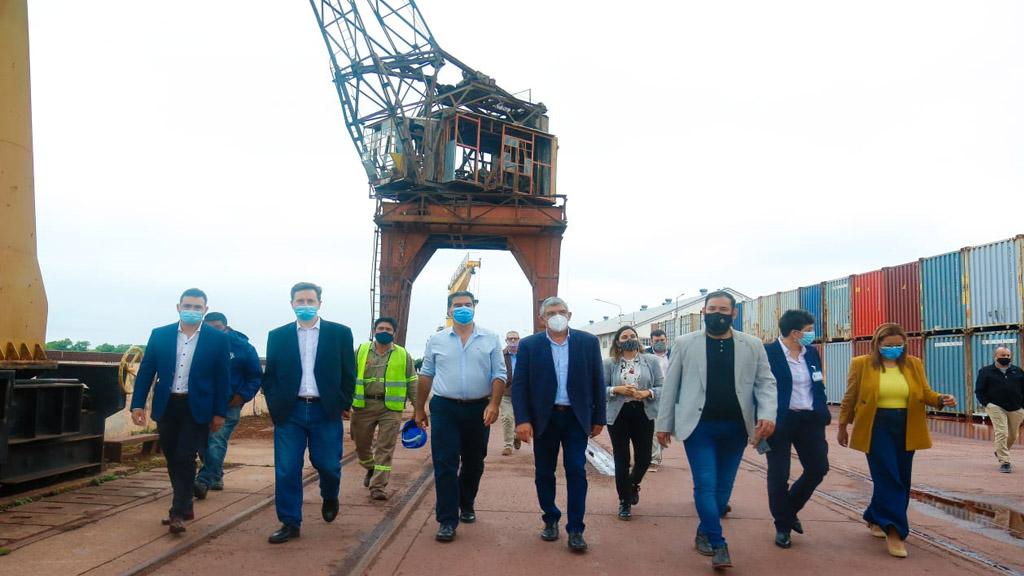 Vía Navegable Troncal: autoridades de la AGP se reunieron con Jorge Capitanich