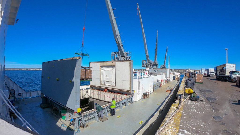 Al igual que Mar del Plata y Deseado, Puerto Madryn también volvió a operar con un reefer