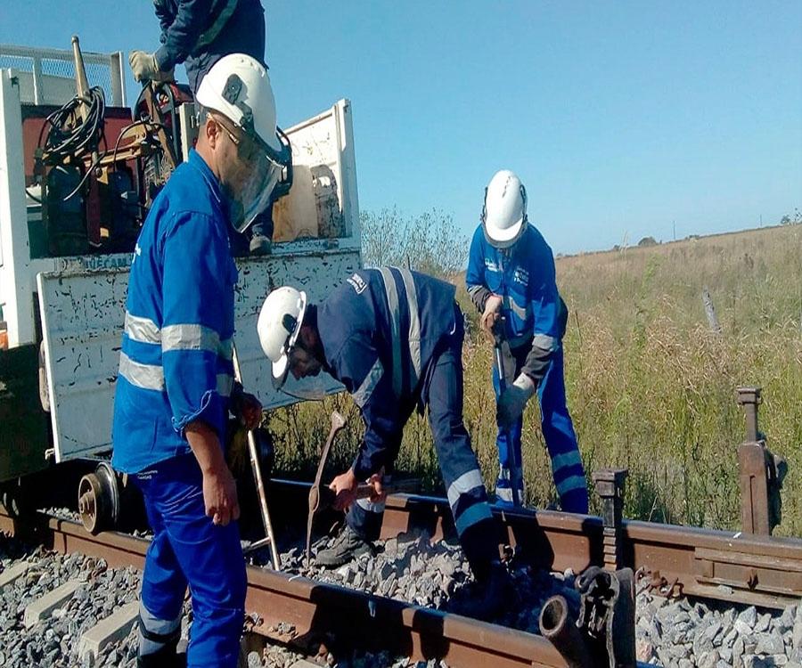 Obras de mejoramiento de vías en las tres líneas nacionales de cargas