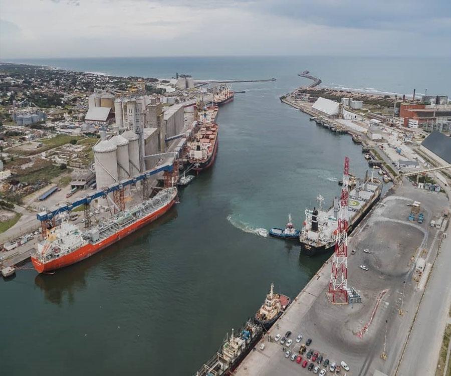 Destacan las ventajas de los 50 pies de calado logrados en el puerto de Quequén