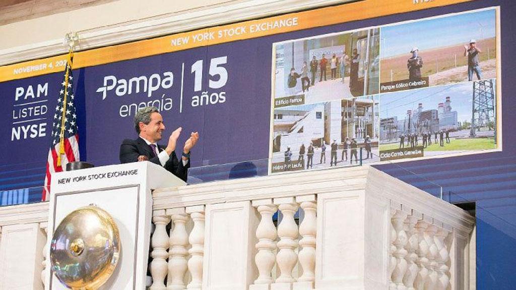 La empresa Pampa Energía festejó sus 15 años con un toque de campana en Wall Street