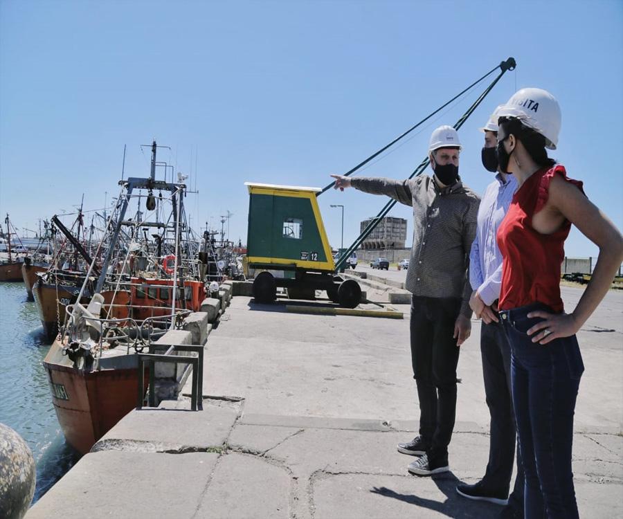 Juan Cruz Lucero y Rocío Miranda recorrieron el puerto de Mar del Plata