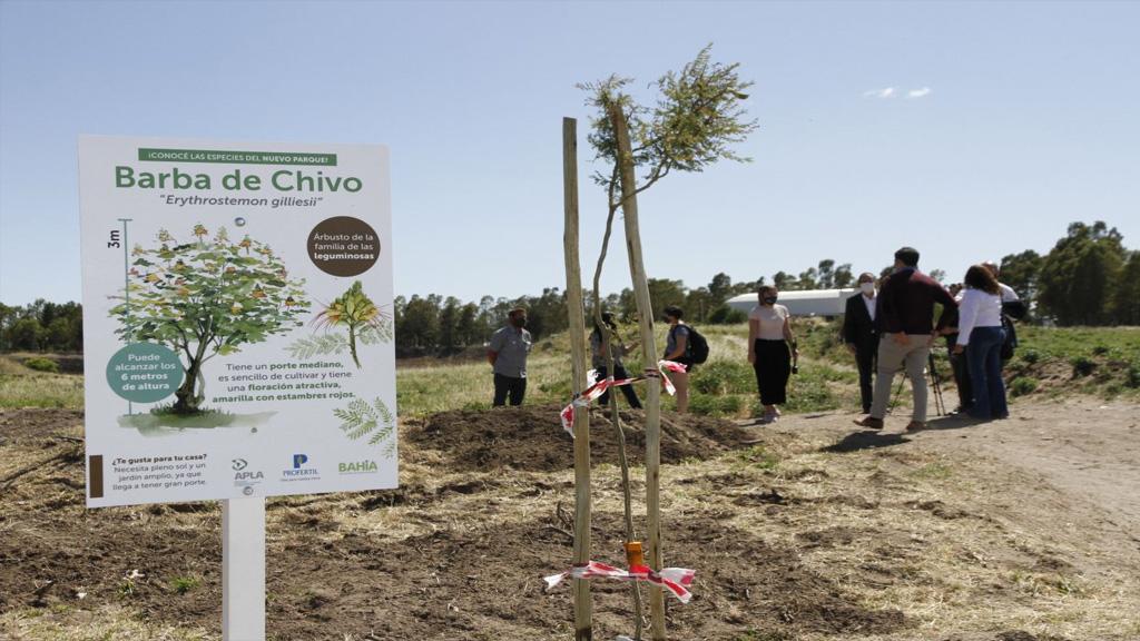 Aporte de Profertil para la concreción de un gran espacio verde de uso público en Bahía Blanca