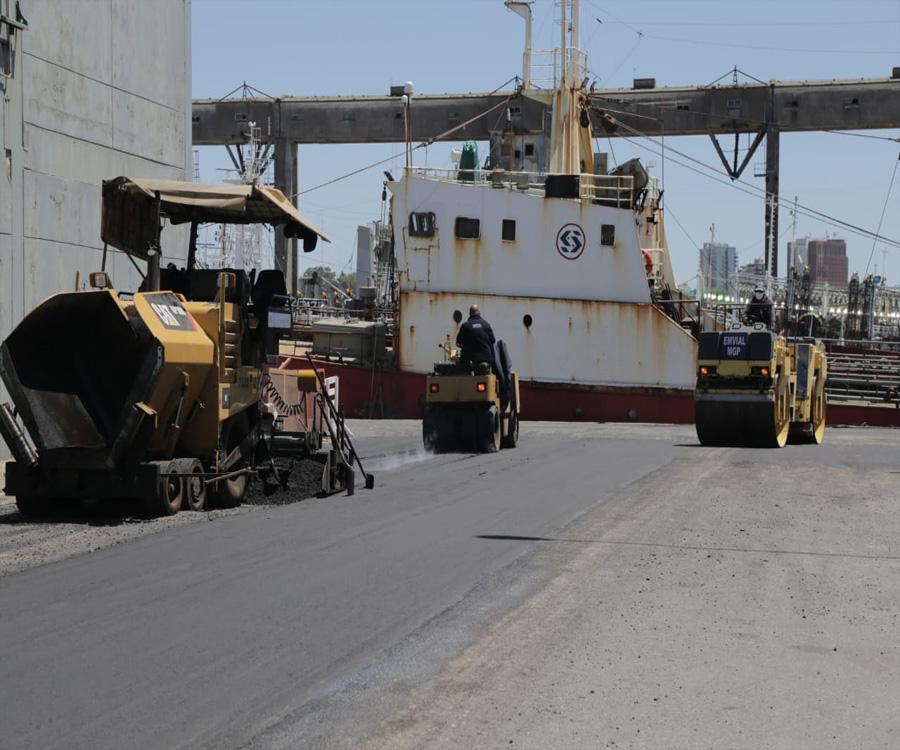 En fotos: mejoras en calles interiores y corredor vial del puerto de Mar del Plata