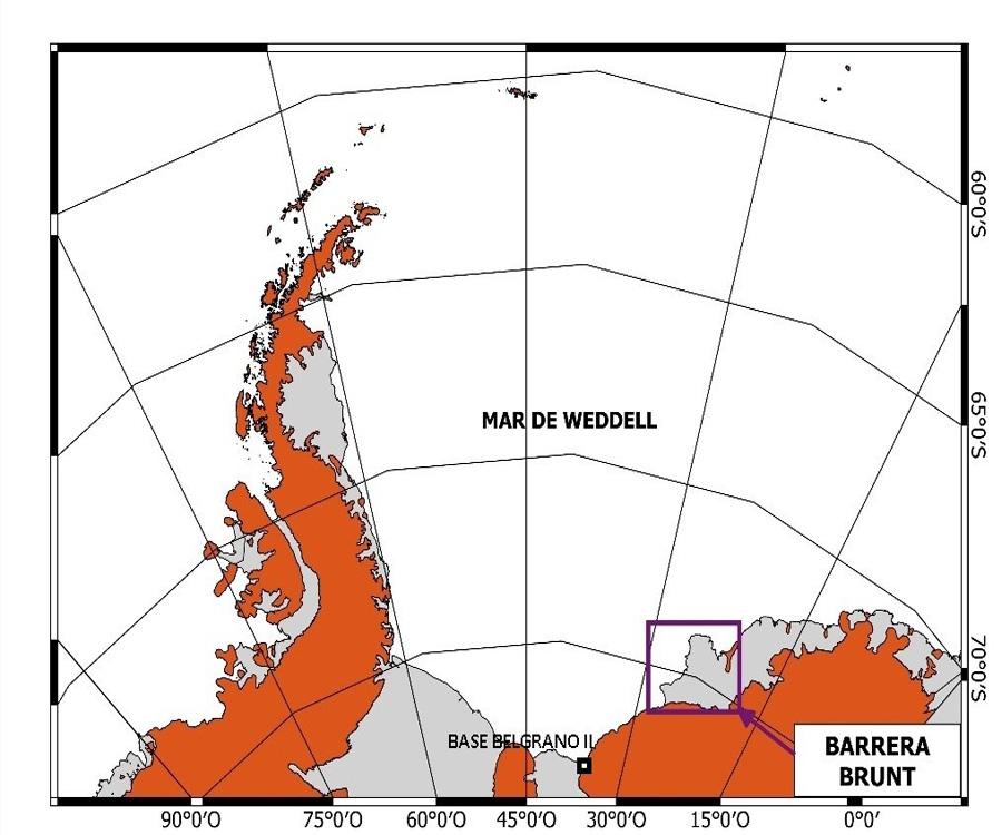 Nuevo témpano gigante se desprendió de la barrera de hielo Brunt