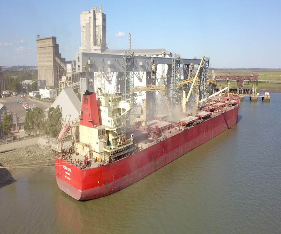 Descargaron 288.105 toneladas de granos en la última semana en el puerto bahiense