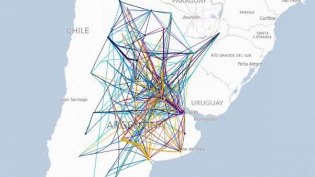 El 64% de los granos transportados va a los puertos de Rosario, Bahía Blanca y Quequén