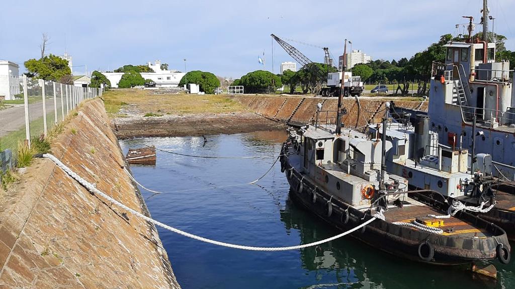 Aporte técnico de tres astilleros para adecuar el varadero de la Base Naval Mar del Plata
