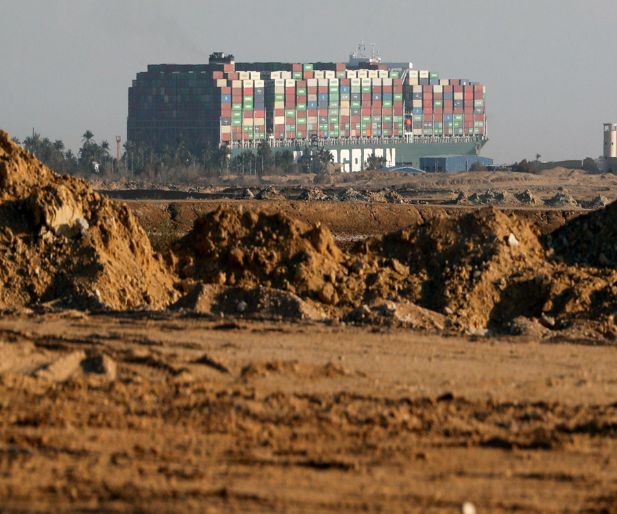 En video: mirá cómo fue la trayectoria del Ever Given hasta encallar en Suez