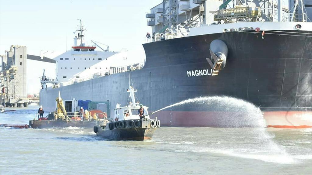 Nuevo simulacro de emergencia en el Puerto de Bahía Blanca