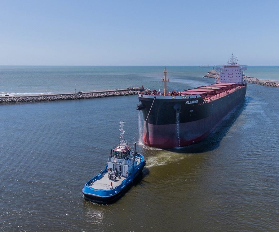 Quequén: casi 2,4 millones de toneladas de granos se exportaron en el primer cuatrimestre