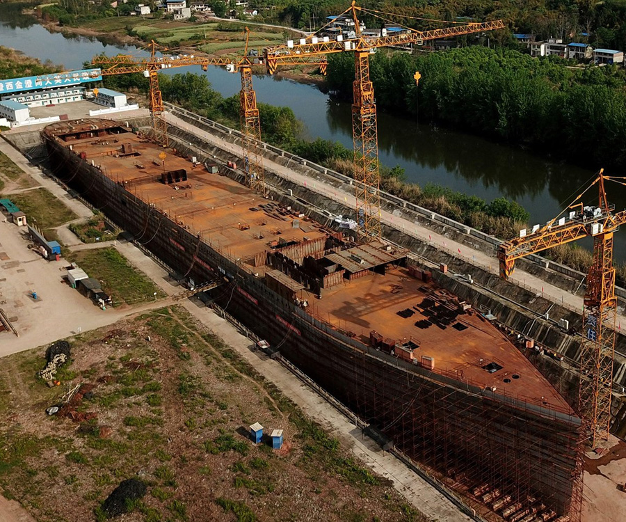 """Las fotos del """"Titanic Insumergible"""" que se construye en China"""