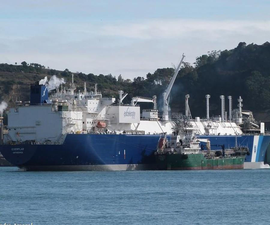 Sin remolque, peligra la operatoria del regasificador Exemplar en Bahía Blanca