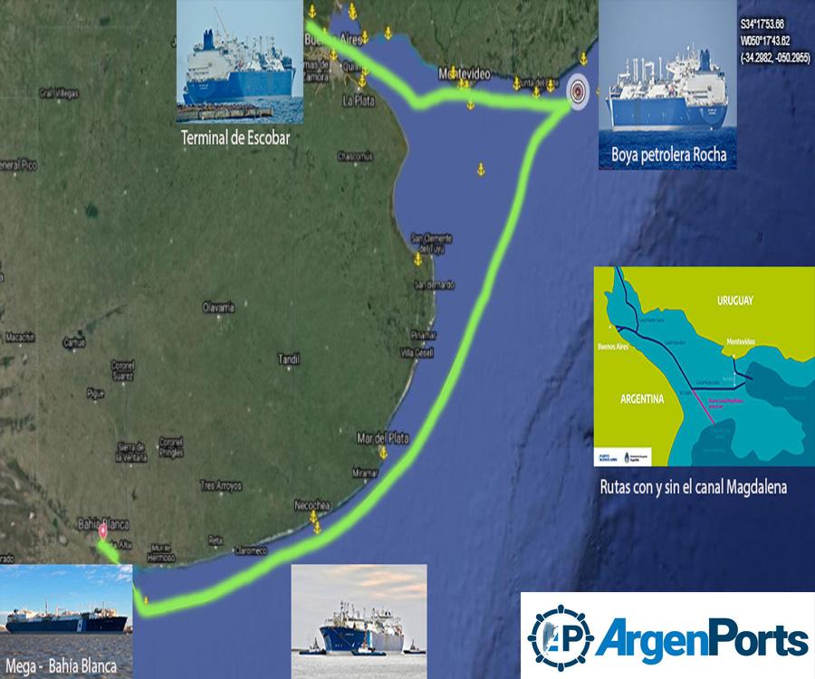 Cuando una imagen lo dice todo: la ruta del regasificador Exemplar y el canal Magdalena