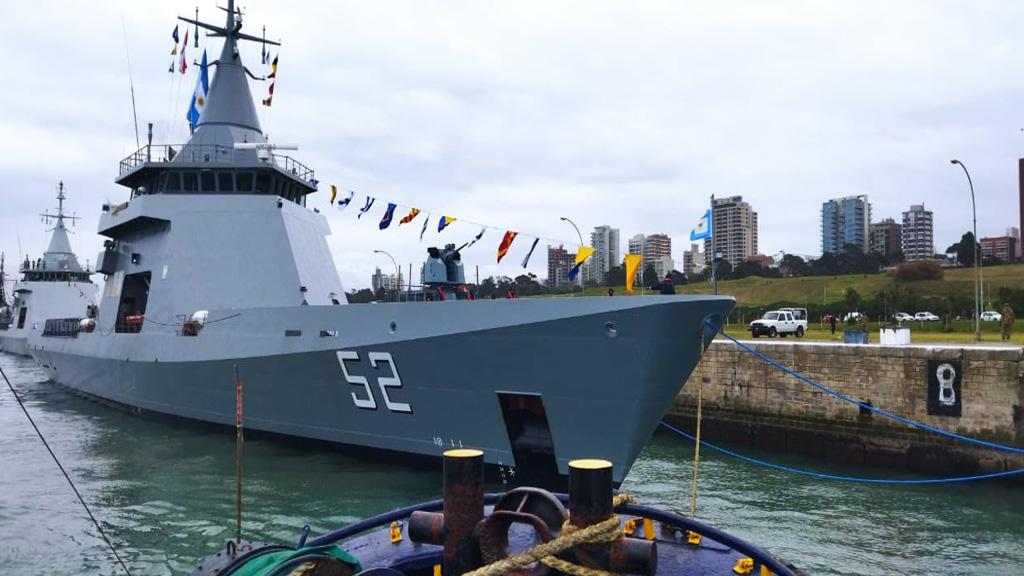 En fotos y videos: la Armada Argentina incorporó al patrullero oceánico Piedrabuena